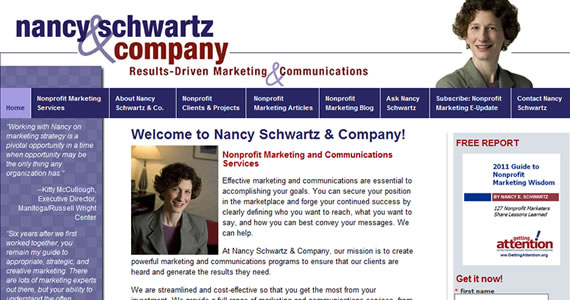 NancySchwartz.com Redesigned &#038; Built on WordPress by RLH Creative