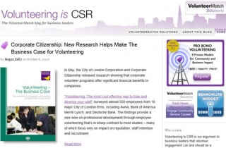 VolunteerMatch's Volunteering is CSR Blog