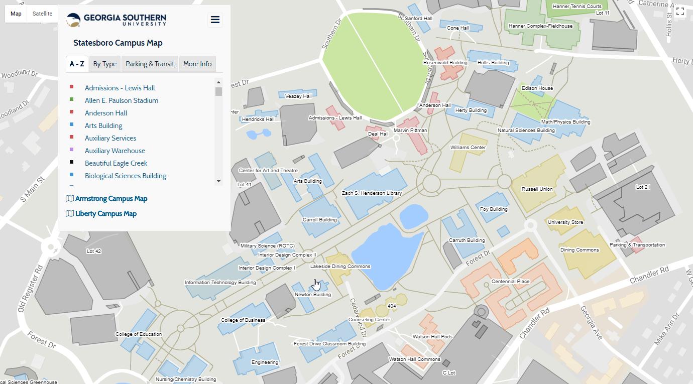 Screenshot of final map